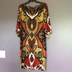 Chico's 1 orange/brown dress